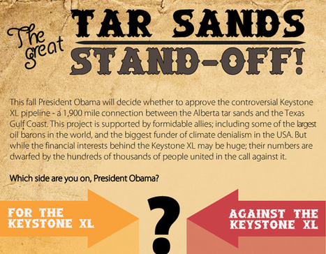The Great Tar Sands Stand-off | green infographics | Scoop.it