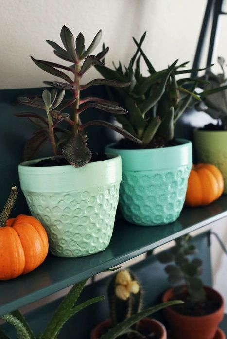 Try This: Textured Planter Project | Récup Création | Scoop.it