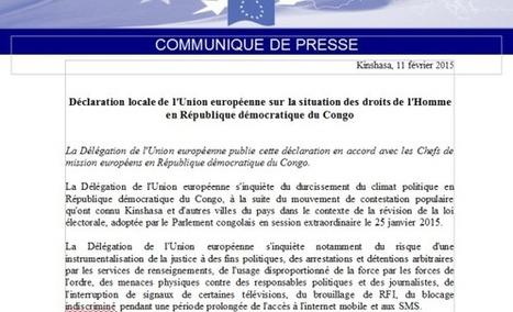 DECLARATION DE L'UE SUR LA SITUATION DES DROITS DE L'HOMME EN RDC/OFFICIEL | EUGENE DIOMI NDONGALA, PRISONNIER POLITIQUE EN RDC | Scoop.it