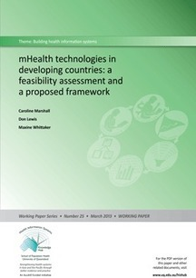 mHealth technologies in developing countries: a feasibility assessment and a proposed framework - Health Information Systems Knowledge Hub - The University of Queensland, Australia   Iowa health informatics   Scoop.it