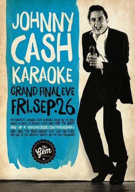 Johnny Cash Karaoke time at The Gem Bar in Melbourne bars - Imgur | Looking for bar in melbourne? | Scoop.it