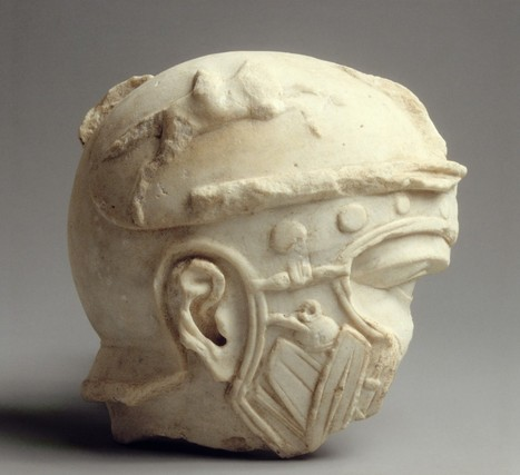 Fragmentary Marble Head of a Helmeted Soldier | Roma Antiqua | Scoop.it