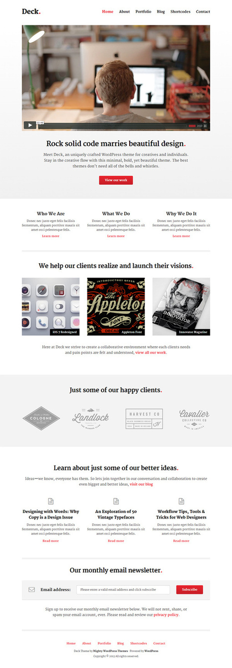 15 Modern Design Responsive WordPress Themes and Templates | Web & Graphic Design - Inspirational resources and tips!!! | Scoop.it