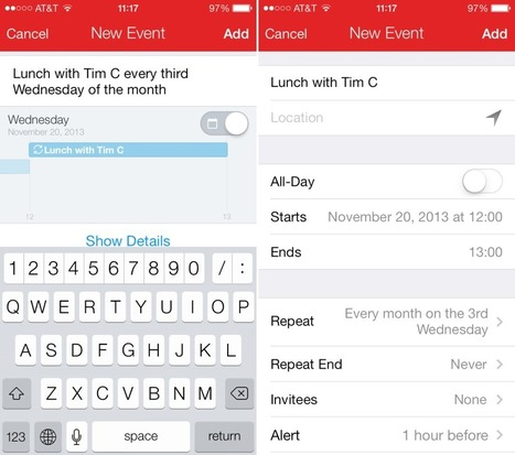 Fantastical 2 for iOS 7 is out with new design and features | Best iPhone Applications For Business | Scoop.it