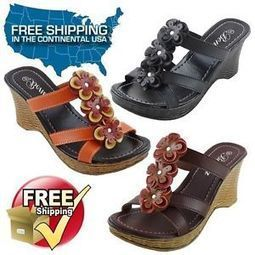 New Womens Sandals Wedge Shoes Platform Heels Peep Toe Slides Size 5 to 10 JUDY | Style | Scoop.it