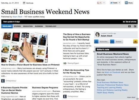 July 21 - Small Business Weekend News is out | Business Futures | Scoop.it