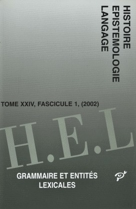Linguistique appliquée et disciplinarisation: Histoire Épistémologie Langage, 2011. | TELT | Scoop.it