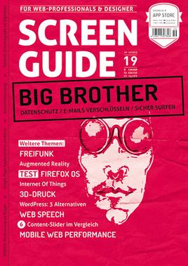 SCREENGUIDE 19 - Big Brother | Webstandards | Scoop.it