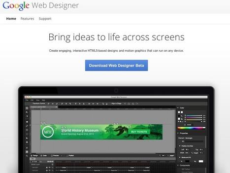 Google Web Designer : un nouvel outil de création (publicitaire) en ... | Technologie web | Scoop.it