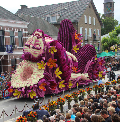 The Annual 'Corso Zundert' #Parade Honours Van Gogh with Monumental Floats Adorned with #Flowers #art | Luby Art | Scoop.it