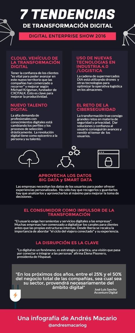 7 tendencias de Transformación Digital #DES2016 #Infografia Andres Macario | Re-Ingeniería de Aprendizajes | Scoop.it
