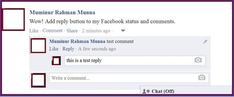 Add REPLY button to your Facebook Status and comments » TechSpree | Tech | Scoop.it