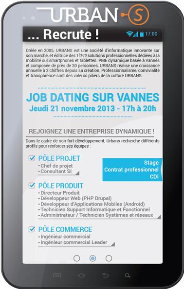 URBANS recrute ( Développement d'applications sur smartphones et tablettes) | Urbans Facility | Scoop.it
