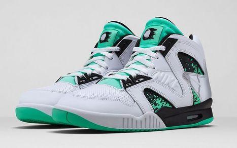 Nike Air Tech Challenge Hybrid 'White/Green Glow-Wolf Grey-Ice' Release Date • EQUNIU   Street Fashion   Scoop.it