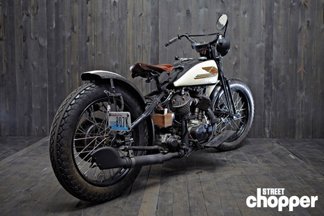 THOM JONES' 1936 HARLEY-DAVIDSON BIG TWIN - Street Chopper Magazine | vintage motos | Scoop.it