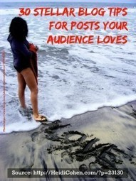 30 Stellar Blog Tips For Posts Your Audience Loves - Heidi Cohen | Writing Tips and Techniques | Scoop.it