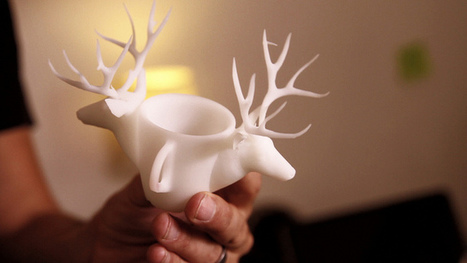 Hold Your Ideas in Your Hands with Shapeways 3D Printing : The Deer Cup | 3D printing | Scoop.it