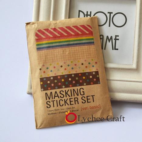 Washi Masking Tape Craft Stickers Pack Decorative Set Labelling Scrapbook Basic | Washi Tape | Scoop.it