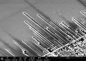 """Nanoworld """"Snow Blowers"""" Carve Straight Channels in Semiconductor Surfaces 