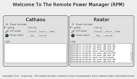 WtRPM: A Web-based (Wt) suite to power up/down your computers - MùPùF.org | Arduino, Netduino, Rasperry Pi! | Scoop.it