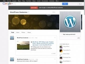 WordPress › WP Google Plus Connect « Comment intégrer Google+ à votre blog WordPress | Boutique droits de label privé | Scoop.it
