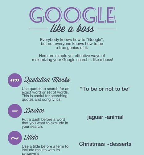 7 Simple Google Tips To Search Like A Boss | Teachning, Learning and Develpoing with Technology | Scoop.it