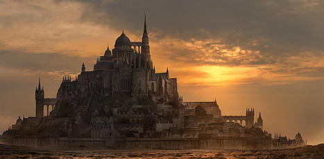 Create a Fantasy City Using Architectural Photographs in Photoshop | Urban Fantasy Writing | Scoop.it