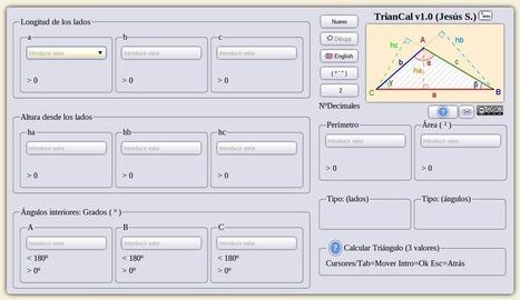 Calculadora de triángulos online | Recursos i eines TIC per a l'educació | Scoop.it