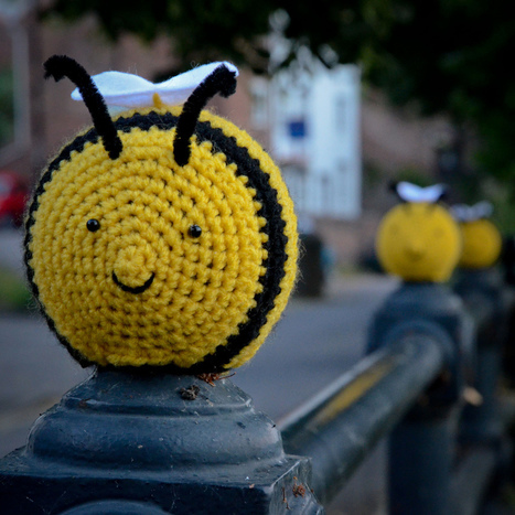 The Colourful World of Yarn Bombing | liquid landscape | Scoop.it