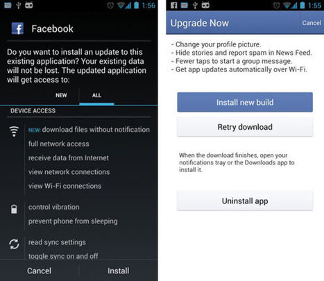 Facebook allegedly skirts Google Play store with latest update, adds auto-download of newest versions | Nerd Vittles Daily Dump | Scoop.it