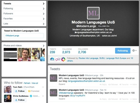 Follow Modern Languages on Twitter | Get Ready For Languages at Southampton | Scoop.it