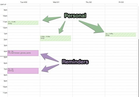 My Apple/Google Love Affair: Using Google Calendar for Time Based To Dos (Reminders) | GooglePlus Expertise | Scoop.it