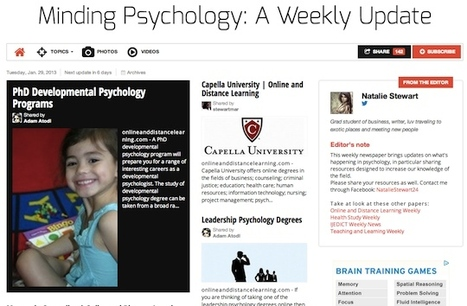 January 29, 2013 - Minding Psychology: A Weekly Update is out | Psychology Professionals | Scoop.it