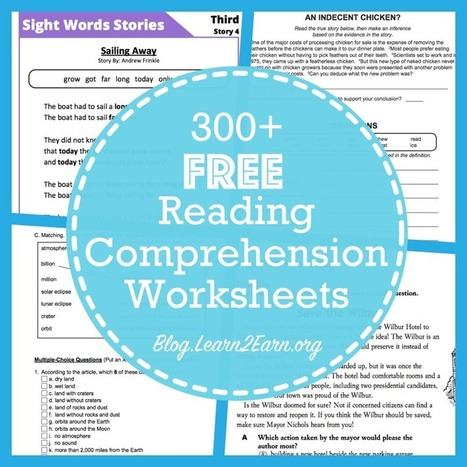 20 Websites for Free Reading Comprehension Worksheets | English Language Teaching and Learning | Scoop.it