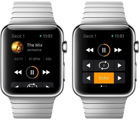 Djay for Apple Watch Lets You Mix Tracks on Your Wrist, Djay Pro for Mac Gains Video Mixing | DJing | Scoop.it