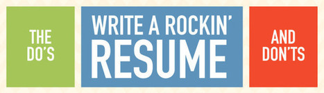 The Do's and Don'ts to Writing a Rockin' Resume! [INFOGRAPHIC] | Resume Writing and Job Search | Scoop.it