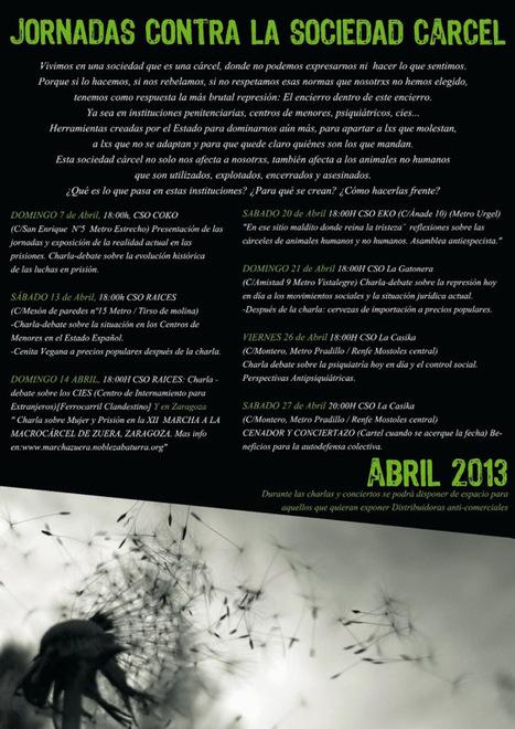 Colectivo No a O´Belen: Jornadas contra la Sociedad Cárcel | (Todo) Pedagogía y Educación Social | Scoop.it