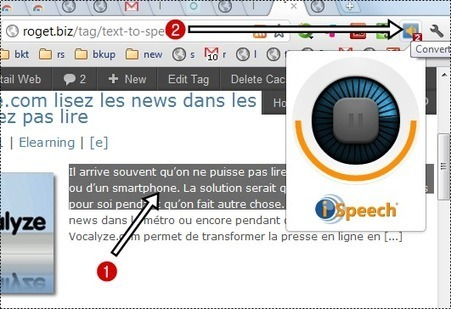 Comment écouter le texte d'une page [Chrome] ? | Le Top des Applications Web et Logiciels Gratuits | Scoop.it