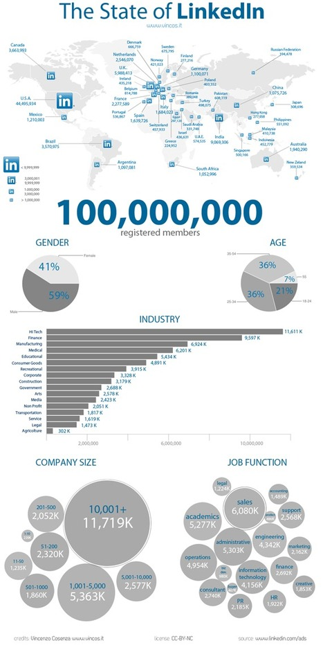 LinkedIn User Statistics, which countries use LinkedIn the most? | Socialnomics | Social media marketing | Scoop.it