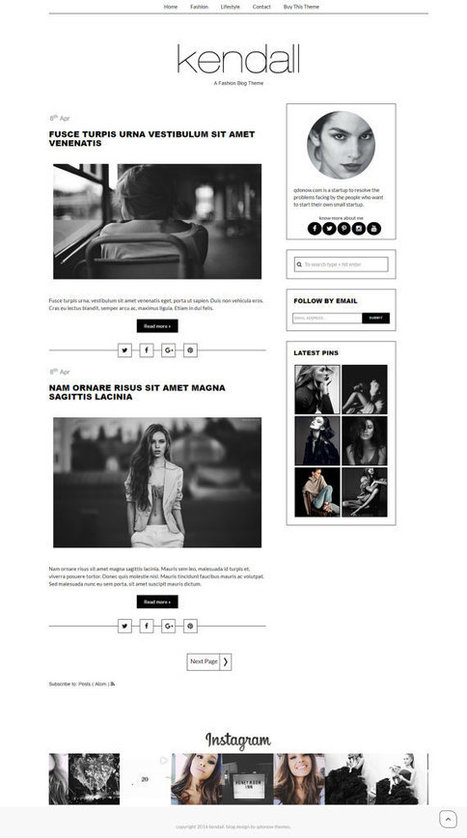 Blogger Template Responsive Blogger Template Premade Blogger Templates Minimalistic Blogger Theme Template - Kendall by QDONOW | Blogger themes | Scoop.it