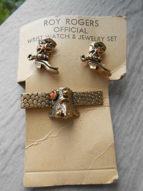 Vintage GENUINE ROY ROGERS Cufflinks & Tie Clip. Wedding, Men's Christmas Gift, Dad. Cowboy. | Western Lifestyle | Scoop.it