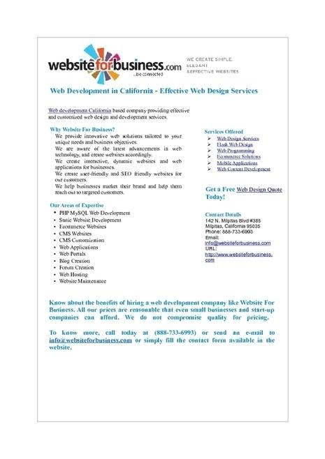 Web Design and Development California - Custom Web Design Services | Web Development | Scoop.it