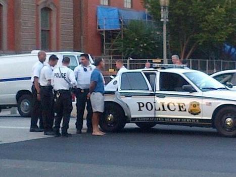 Twitter / PeterAlexander: US Secret Service: Man taken ...   Temporary fence (canada standard)   Scoop.it