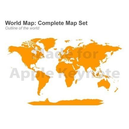 World Map Editable in Apple Keynote Presentation | Keynote Slide Formatting: Create better looking presentations | Scoop.it