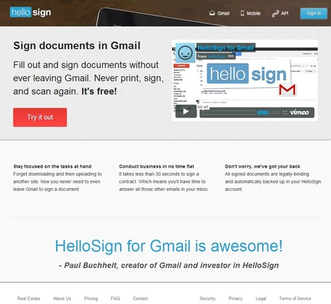 HelloSign : Sign documents in Gmail | Time to Learn | Scoop.it