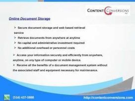 Data entry, Online Document Storage, document Scanning Content Conversions | contentconversions | Scoop.it