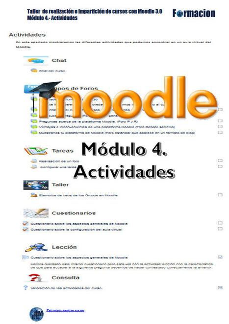 Manual de Moodle 3.0 Módulo 4 Actividades | Con visión pedagógica: E-learning y formación a través de la red | Scoop.it
