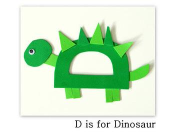 D is for Dinosaur {Craft} | Literacia no Jardim de Infância | Scoop.it
