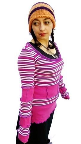 Pink and Purple  Patchwork Pixie Top - Scrapunzel - Pixie Clothing   Cloth art dolls   Scoop.it