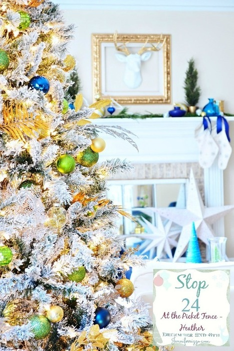 Decorating for Christmas…Heather's Home Tour - At The Picket Fence   Christmas Craft   Scoop.it